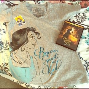 Beauty and the Beast Tee and Dvd set
